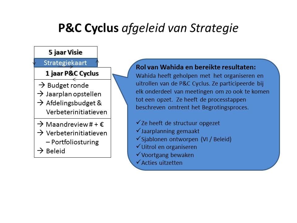 Strategie en P&C Cyclus